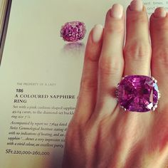 A glorious natural pink sapphire! I Love Jewelry, Fine Jewelry, Jewelry Design, All Gems, Pink Bling, Pink Sapphire, Yellow Diamonds, Pink Gemstones, Beautiful Rings