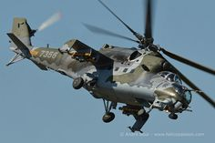 Czech MI24 Hind D attack helicopter, RIAT 2015, Photo : André Bour