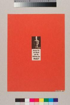 © Gerhard Rühm , Kennen Sie die Macht und die Wirkung des Wortes? 1958 Foto- und Typocollage auf rotem Papier, 36,5 x 27 cm Privatsammlung, Foto: © Hannes Böck