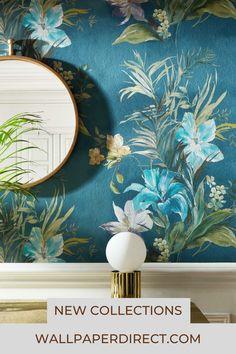 Condo Living, Living Room Modern, Marimekko Wallpaper, Grown Up Bedroom, Home Building Tips, Art Deco Bathroom, Minimalist Wallpaper, Colour Pallete, Blue Wallpapers