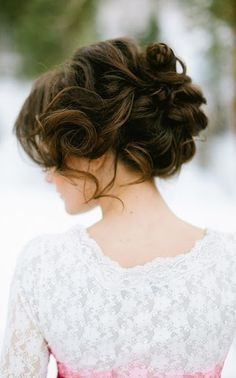 Curly Wedding Updo - Renewed Style ...I'd have grow my hair back out obviously