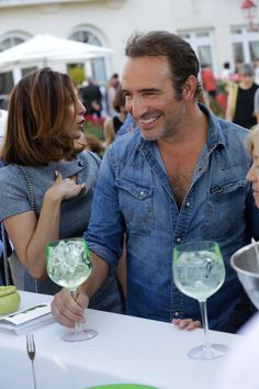 Jean Dujardin loves #Gvine GinTonic at the #FFA2015, cheers mate !