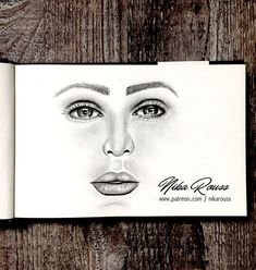 Pencil portrait drawing - 40 min. real time, video tutorial