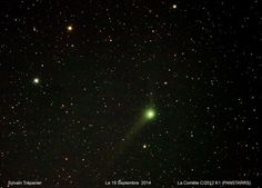 C/2012 K1 (PANSTARRS) on September 19 - This beautiful comet may be visible with the eye alone around mid-October, but it'll remain much easier to detect using binoculars or a telescope.