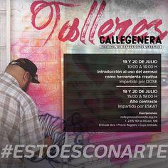 #CALLEGENERA2017 Conoce diversas aplicaciones artísticas y abstractas para la caligrafía relacionadas con el medio del grafiti así como algunas técnicas trazos y composiciones! INSCRÍBETE: callegenera@conarte.org.mx