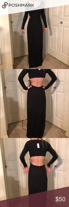 Express long black dress size XS Never worn, tags still on it! From express size XS Express Dresses Maxi