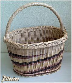 Foto - Pynimas iš laikraščių Wicker Baskets, Weaving, Decor, Ideas, Paper, Wraps, Photos, Decorating, Dekoration