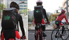 Esta mochila para ciclistas muestra avisos LED - FayerWayer