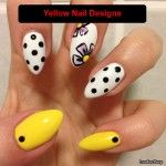 30 Attractive Yellow Nail Designs