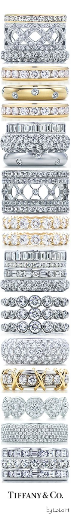 HELLO DIAMONDS!!! Tiffany Celebration Rings...you can create your own unique stack on Tiffany.com