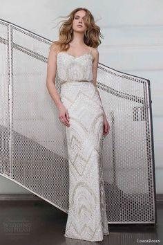 limor rosen 2015 alice sleeveless embellished wedding dress spaghetti straps full view urban dreams