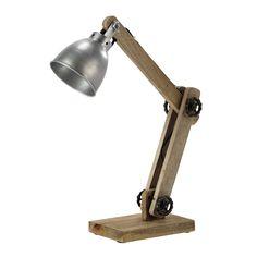 Lampe de bureau en bois et mtal blanc H 64 cm SWEDEN Lamps