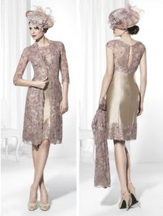 Sheath/Column Scoop Knee-Length Sleeveless Satin Mother of the Bride Dress With Lace