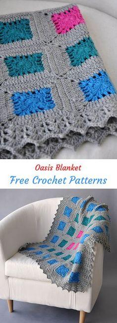 Oasis Blanket Free Crochet Pattern #crochet #crafts #homedecor #blanket #style #ideas #homemade #handmade