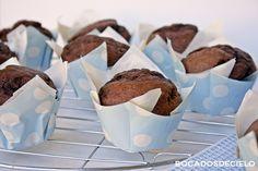 Bocadosdecielo: Muffins de plátano y chocolate