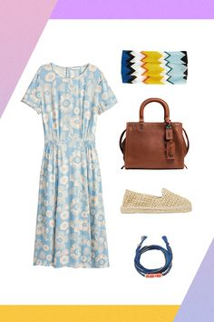 5 Vacation Outfits That Are Sun- & Surf-Ready #refinery29  The Destination: Bali The Look: La Vie Bohème Once you've (blue) crushed the surf, change into a flowy dress for the turf portion of your evening. Accessorize with woven espadrilles and a top-handle bag for an outfit that's made for relaxing in your beachside bungalow.