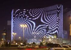 The Dutch architects UNStudio have completed Star Place department store in Kaohsiung, Taiwan. Mall Facade, Retail Facade, Shop Facade, Facade Lighting, Lighting Design, Light Art Installation, Night Scenery, Eco City, Unique Buildings