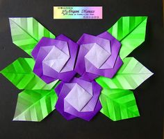 Origami Maniacs: Origami Flower Picture/Cuadro de Flores de Origami