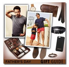 """""""Father's Day Gift Guide"""" by matildiwinky ❤ liked on Polyvore featuring F. Hammann, Boconi, Florsheim, Lacoste, Timex, Valentino, Balmain, Caputo & Co., men's fashion and menswear"""