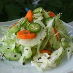 Spicy Bok Choy Slaw  Looks good.  Will have to try it.