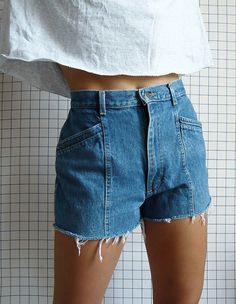 I so like these! Re-worked Vintage Lee shorts.