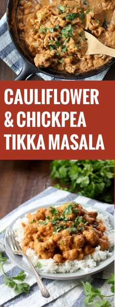 Tender cauliflower and hearty chickpeas are simmered in a spicy cashew tomato sauce and topped with fresh cilantro in this spicy vegan tikka masala.