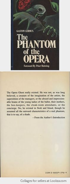 The Phantom of the Opera by Gaston Leroux (1989, Hardcover)