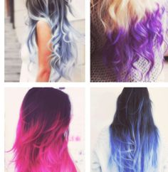 Tip dyed hair. So cool! Love the first and the last one