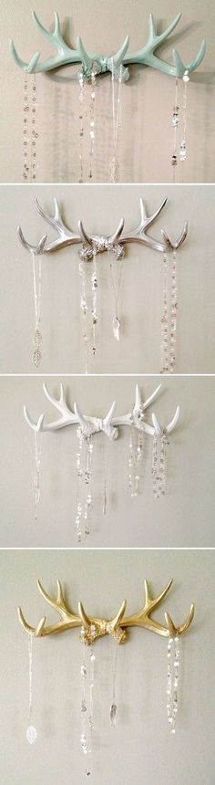 awesome SILVER Faux Deer Antler Rack                                                                                                                                                                                 More #JewelryOrganizer