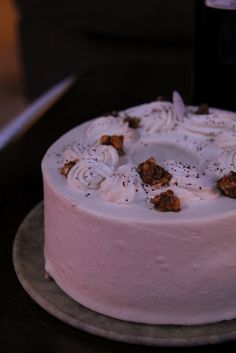 Maple & black pepper chiffon cake