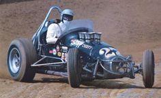 Vintage Sprint Car Crashes | Dickson turning left