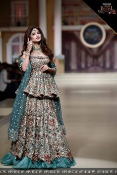 sajal aly in bridle couture week Indian Bridal Outfits, Pakistani Wedding Outfits, Pakistani Dress Design, Pakistani Wedding Dresses, Indian Designer Outfits, Pakistani Mehndi Dress, Walima Dress, Indian Bridal Lehenga, Lehenga Designs