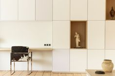 wall cabinet with desk Armoire, Scandinavian Apartment, Interior Design Inspiration, Home Office, House Design, Contemporary, Living Room, Furniture, Room Dividers
