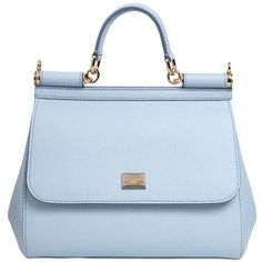 Dolce & Gabbana Women Medium Sicily Dauphine Leather Bag (€1.365) ❤ liked on Polyvore featuring bags, handbags, shoulder bags, purses, bolsas, purse shoulder bag, leather shoulder handbags, genuine leather handbags, blue leather purse and blue shoulder bag