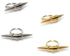 Rings from Jane Gowans fabulous new collection - via Gold Threads