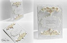 Quilled wedding card