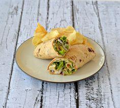 Chicken Caesar Lettuce wraps with Sabra Hummus!