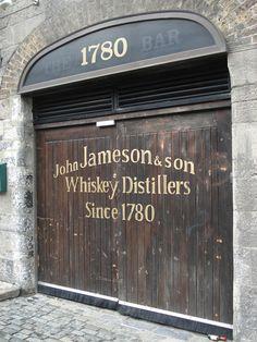 Jameson whiskey distillery.