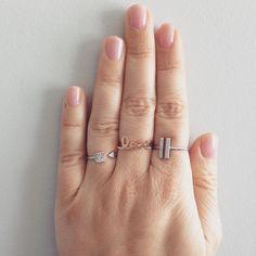 Delicate rings & layering!