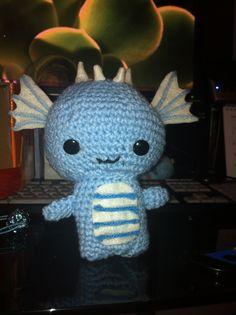 Water Dragons are pretty nifty. Crochet Pattern: http://allaboutami.tumblr.com/post/16498866712/dragonpattern