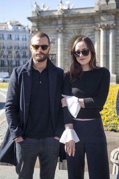Jamie and Dakota fifty shades darker photo call in Madrid spain