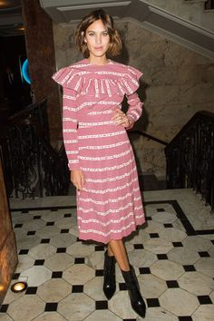 Alexa went all sailor-chic on us at the Business of Fashion Gala during London Fashion Week.