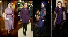 Miroslava Duma purple Duffy, Miroslava Duma, Fashion Colours, Ikon, Fur Coat, Deep, Style Inspiration, Purple, Jackets