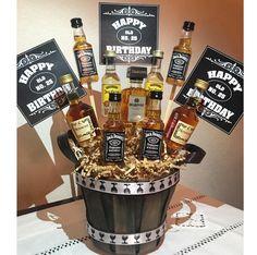 Diy gifts for boyfriend alcohol jack oconnell 59 Ideas Happy Birthday Man, Birthday Cake For Husband, Happy Birthday Cakes, Surprise Gifts For Him, Diy Gifts For Him, Diy Gifts For Boyfriend, Liquor Gift Baskets, Diy Gifts Just Because, Jack Daniels Birthday