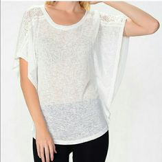 Moon Collection Lace Butterfly Top *nwt* Moon Collection Lace Butterfly Top *nwt*. Available in S, M and L. Please comment if you would like to purchase and I will create a separate listing for you.  Moon Collection Tops Tunics