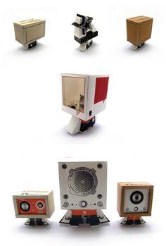 monster speaker (paper toy) on Toy Design Served