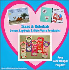 Genesis: Isaac & Rebekah with a cute Jesus Loves Me! Door Hanger