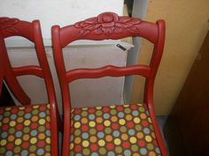 Upcycled Antique Rose Carved Chairs 6 By Junkyardanecdote On Etsy