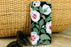 Floral iPhone 6 Case Hibiscus iPhone 5S Case by JoyMerrymanStore