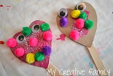 Messages Crafts For Valentine's Day Boxes. Preschool Crafts For Kids Valentines Day Heart Puppets Craft Preschool Valentine Crafts, Kinder Valentines, Valentines Day Activities, Valentines Day Hearts, Valentines Diy, Valentines Day Crafts For Preschoolers, Valentine Nails, Kindergarten Crafts, Valentine Heart